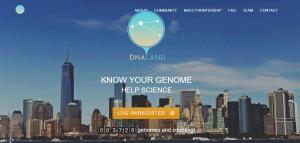 DNA.Land Website