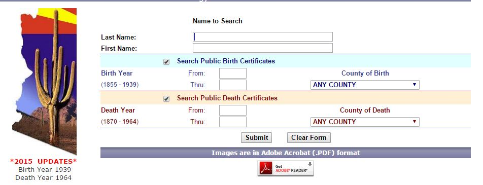 Arizona Birth and Death Certificates - Find My Family Magazine