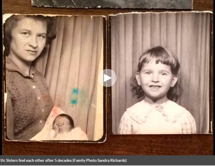 sisters found after 50 years